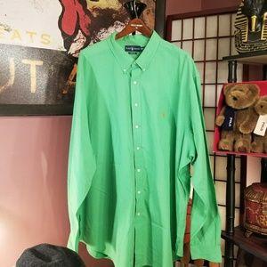 RALPH LAUREN Polo Shirt Mens 4XLT Green